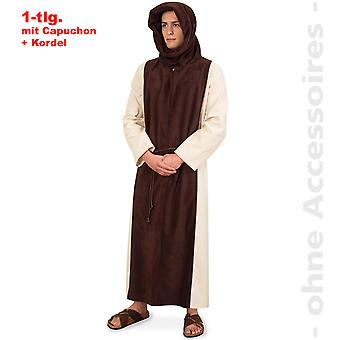 Hombres de traje de monje capucha traje de capucha Fraile padre mens