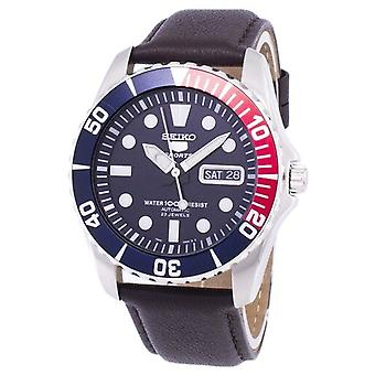 Seiko 5 sport automatisk forhold mørkebrun læder Snzf15k1-LS11 mænd ' s Watch