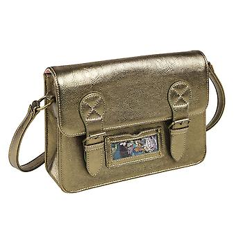 Wanderlust Gold Satchel Bag by Wild & Wolf