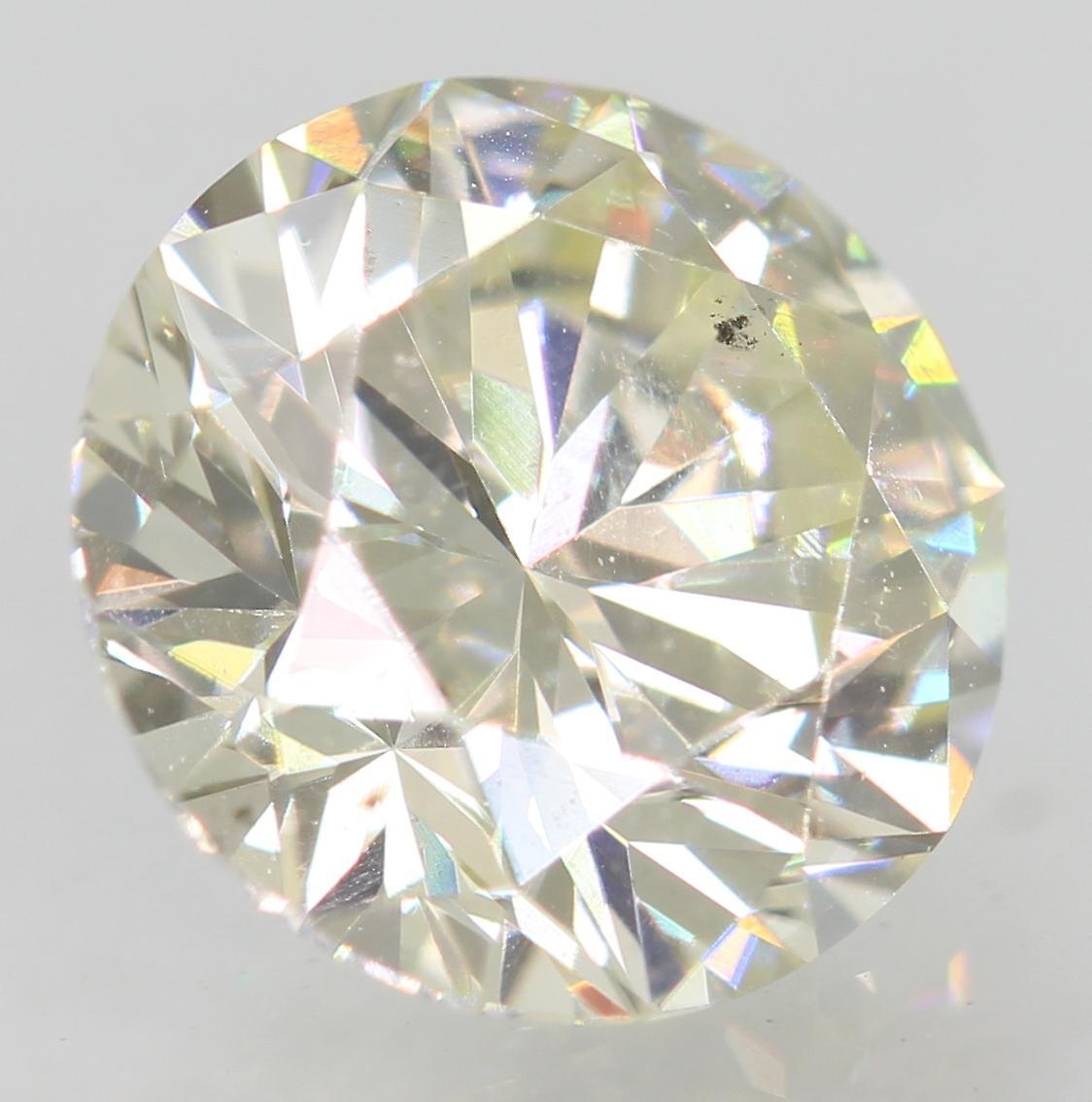 Certified 1.01 Carat I VS1 Round Brilliant Enhanced Natural Diamond 6.45m EX CUT