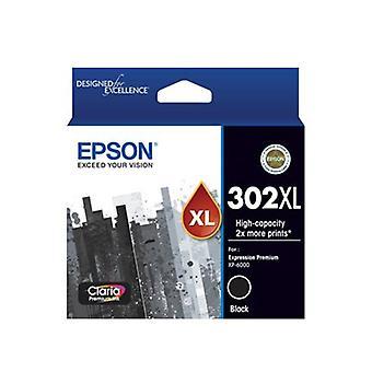 Epson 302XL Pigment Black Ink Claria Premium
