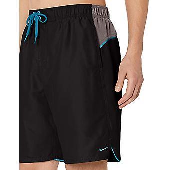 "Nike Swim Men's Color Surge 9"" Volley Short Swim Trunk, Black, Small"
