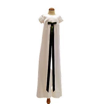 Dopklänning Grace Of Sweden, Stilren Med Mörk Grön Rosett  Pr.ka