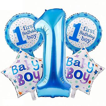 Happy 1st Birthday Party Decoration Foil Balloons