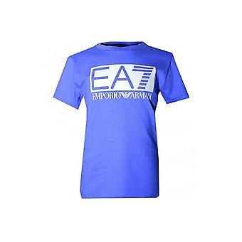 EA7 Boys Blue Crew Neck T-Shirt