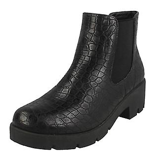 Spot On Womens / Ladies Chunky Ankle Boots Spot On Womens / Ladies Chunky Ankle Boots
