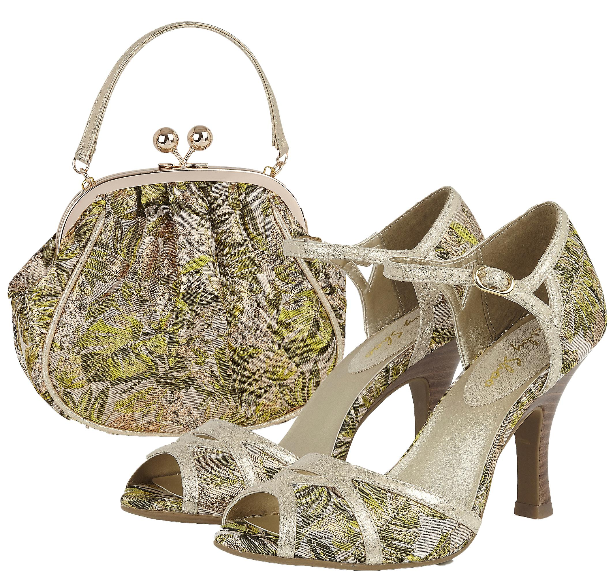Ruby Shoo Women's Eliza Peeptoe Occasion Sandals & Matching Arco Bag