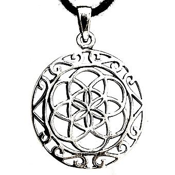 Pendant 204 flower of life - silver