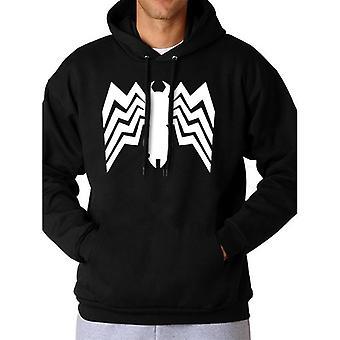 Spider-Man Comics Unisex Adults Venom Logo Hooded Sweatshirt