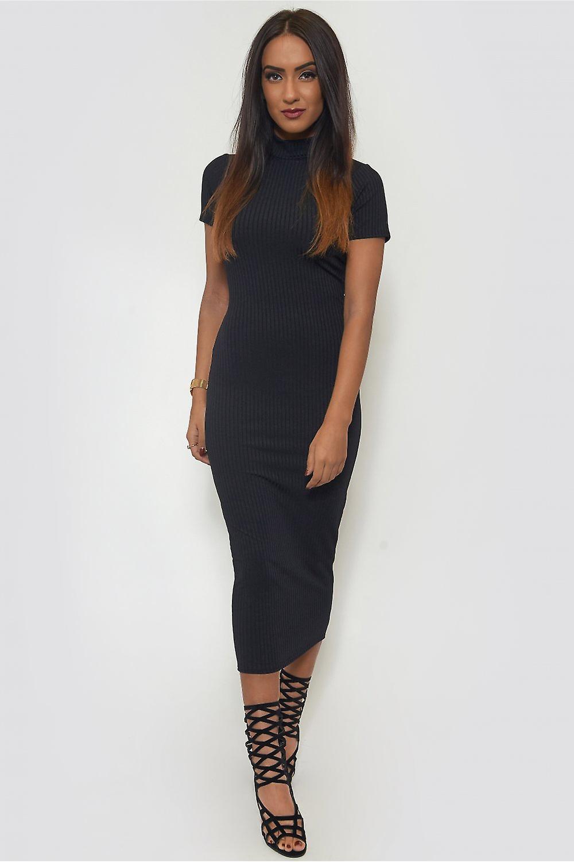 Ria High Neck Midi Dress