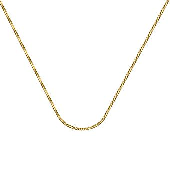 14k Yellow Gold Franco Chain Necklace 1.55mm Lobster Claw Closure Jewelry Gifts for Women - Length: 18 to 24