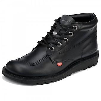 Kickers Black Casual Stiefel Leder Kick Hi