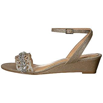 Jewel Badgley Mischka Women-apos;s KINDLE Sandal, paillettes d'or, 8,5 M US