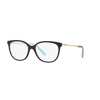 Tiffany TF2168 8134 Havana on Tiffany Blue Glasses