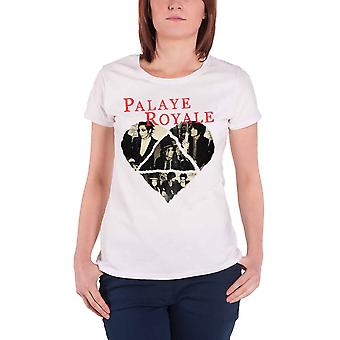 Palaye Royale T Shirt Heart Band Logo new Official Womens Skinny Fit White