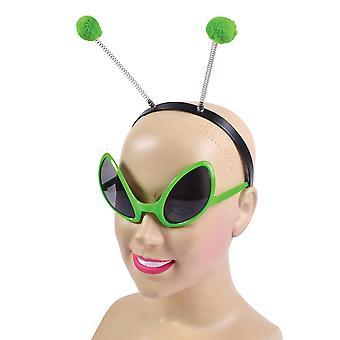Bristol Novelty Unisex Adultes Alien Bandeau et Glasses Set