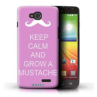 STUFF4 Case/Cover for LG L90 Dual/D410/Grow a Mustache/Pink/Keep Calm