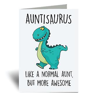 Auntisaurus A6 بطاقة المعايدة