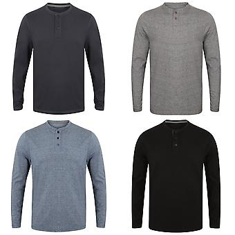 Front Row Mens Washed Long Sleeve Henley T-Shirt