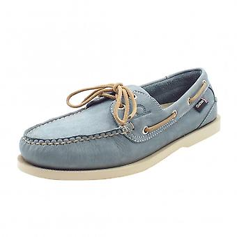 Chatham Marine Compass Ii G2 Men's Leather Boat Shoes In Sky Blue