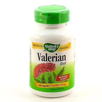 Nature's way racine de valériane, certifié, 530 mg, 100 ea