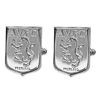Aston Villa FC Official Football Gift Chrome Executive Cufflinks