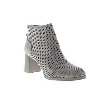 Camper Kara  Womens Gray Nubuck Leather Heels Zipper Pumps Shoes