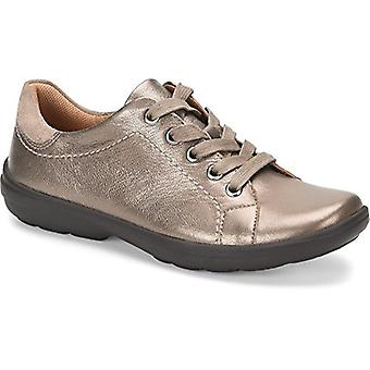 Comfortiva Womens Reston Leather Low Top Lace Up Fashion Sneakers