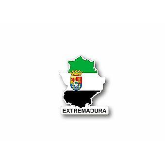 Karta naklejki hiszpania prowincja estremadura extremadura