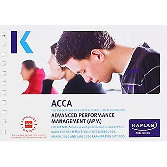 ADVANCED PERFORMANCE MANAGEMENT - POCKET NOTES by KAPLAN PUBLISHING -