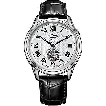 الروتاري GS05365-70 الرجال & apos;s كامبريدج التلقائي ساعة اليد الأسود حزام