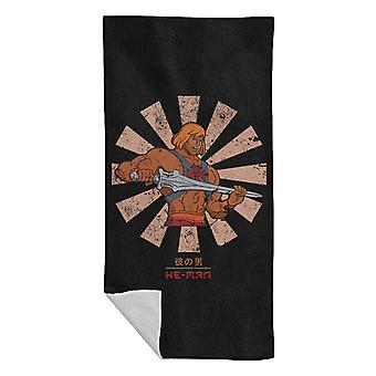 He Man Retro Japanese Beach Towel