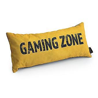 Slogan game over gaming zone - Amarelo | Almofada para Jogos | Migalha de espuma enchida | Resistente à água | Roupa de cama e sofá | Home D cor