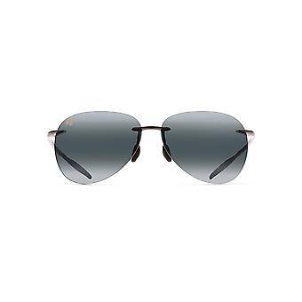 Maui Jim Sugar Beach Aviator zonnebril - Gloss Zwart/Neutraal Grijs Gepolariseerd - Groot