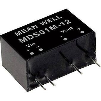 Mean Well MDS01L-03 DC/DC converter (module) 303 mA 1 W Nr. van de uitgangen: 1 x