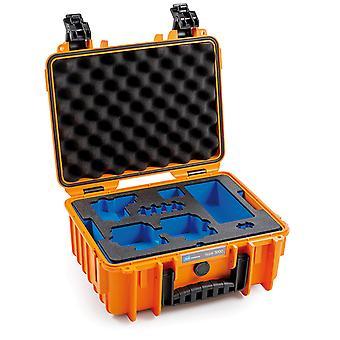 B&W GoPro Case Type 3000 para GoPro Hero 8, Naranja Con inserto de espuma