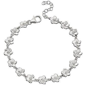 elementer sølv kirsebærblomst armbånd - sølv