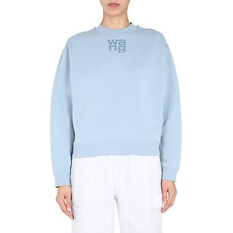 Alexander Wang.t 4cc1201157451 Women's Light Blue Cotton Sweatshirt