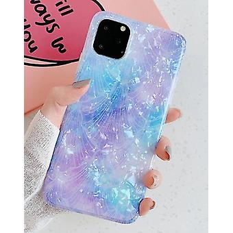 Funda móvil para iPhone 11 Pro con madre perla multicolor
