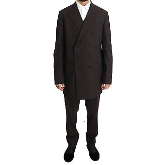 Dolce & Gabbana Bordeaux Wool Stretch Long 3 Piece Suit