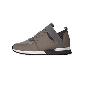 Hamer elastische donker grijs gebreide sneaker