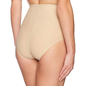 Arabella Women's Matte Microfiber Shapewear Brief, Cuban Sand, Medium