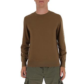 Z Zegna Vvm96zz110m04 Men's Suéter de Algodão Marrom