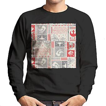 Star Wars Christmas Wrapping Paper Design Men's Sweatshirt