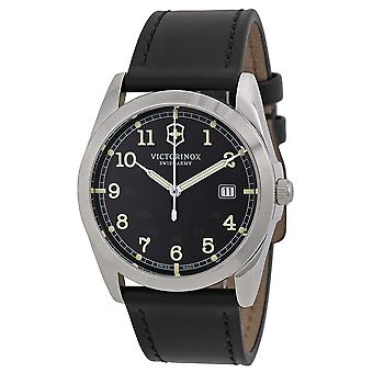 Swiss Army Victorinox Infantry Leather Mens Watch 241584