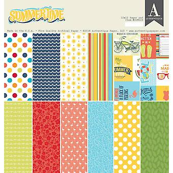 Authentique Sommartid 12x12 Tums Pappersdyna