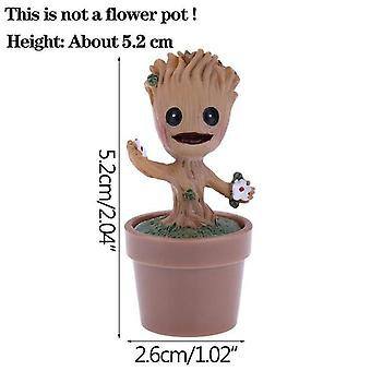 Tree Man Cute Model Pen Pot Accessories -garden Planter Flower Pots- Kids