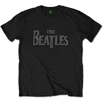 The Beatles Blk Drop T Logo Officiel Tee T-Shirt Mens Unisex