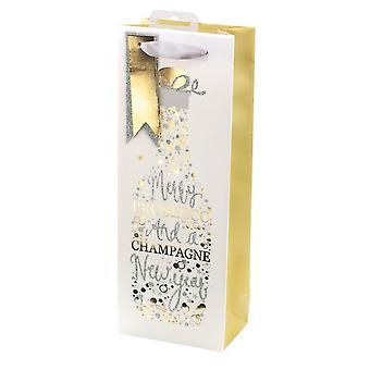 I G Design Prosseco Christmas Bottle Bag