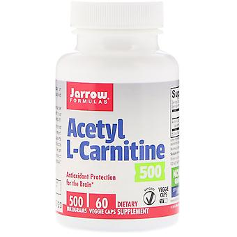 Formules Jarrow, Acétyl L-Carnitine, 500 mg, 60 Bonnets végétariens